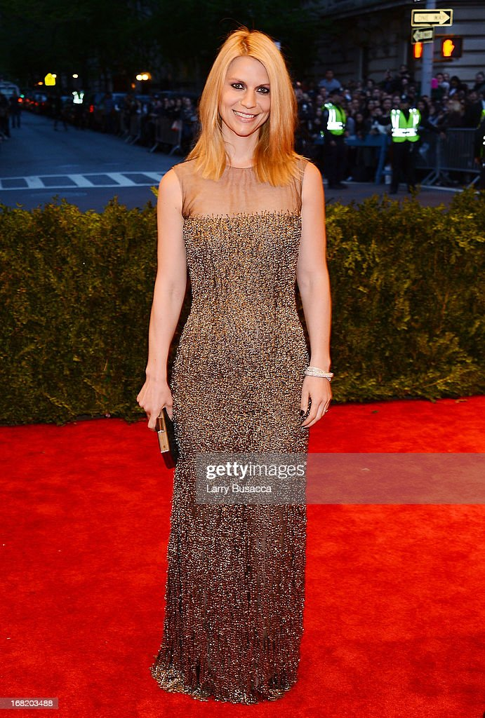 Claire Danes attends the Costume Institute Gala for the 'PUNK: Chaos to Couture' exhibition at the Metropolitan Museum of Art on May 6, 2013 in New York City.