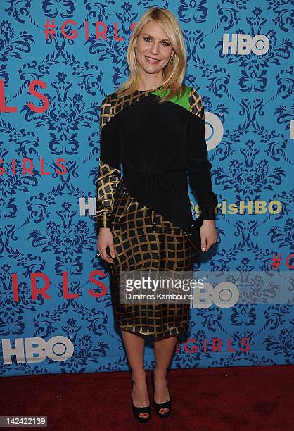 Claire Danes attends the HBO with the Cinema Society host the New York premiere of HBO's 'Girls' at the School of Visual Arts Theater on April 4 2012...