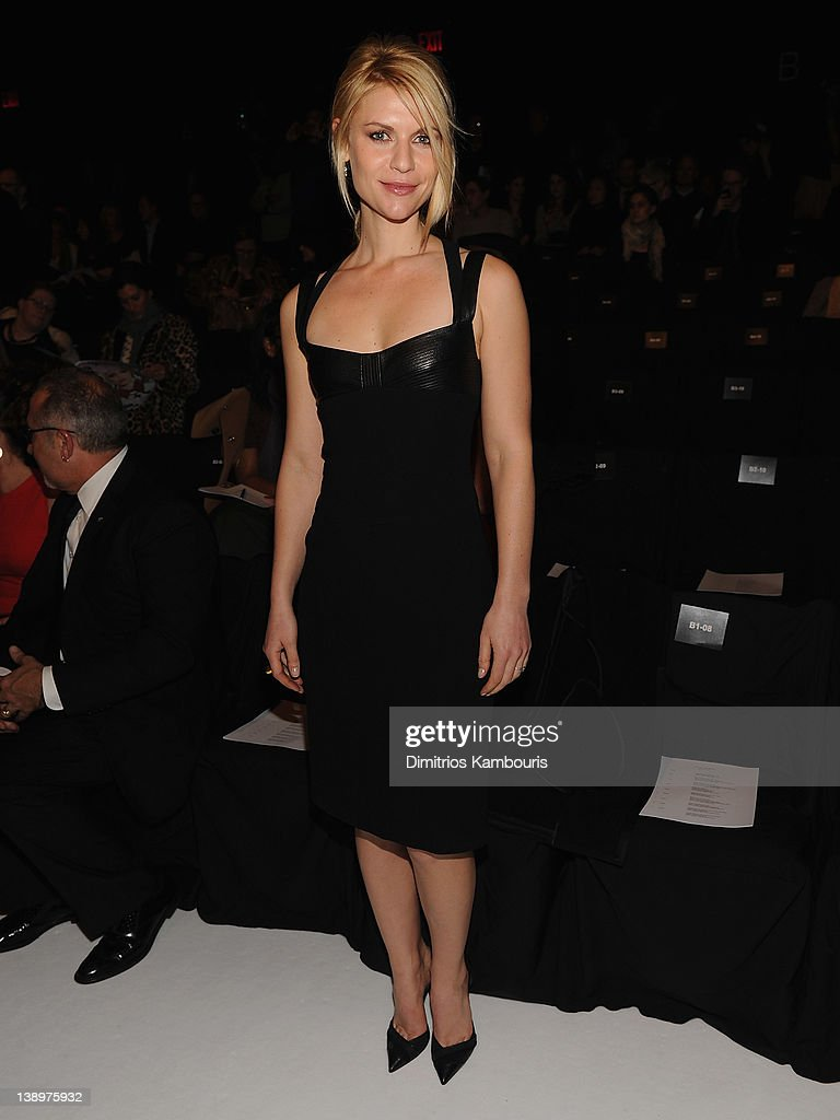 Claire danes attends the narciso rodriguez fall 2012 fashion show during mercedes benz fashion week