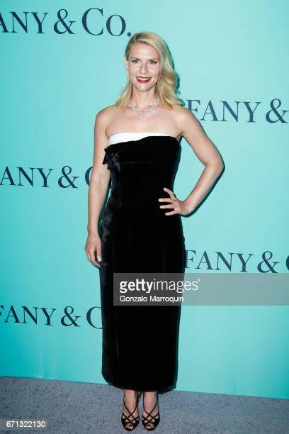 Claire Danes attends the Tiffany Co 2017 Blue Book Collection Gala at St Anna's Warehouse on April 21 2017 in New York Cit