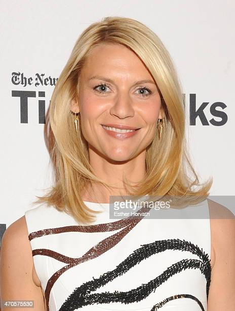 Claire Danes attends TimesTalks Claire Danes at TheTimesCenter on April 21 2015 in New York City