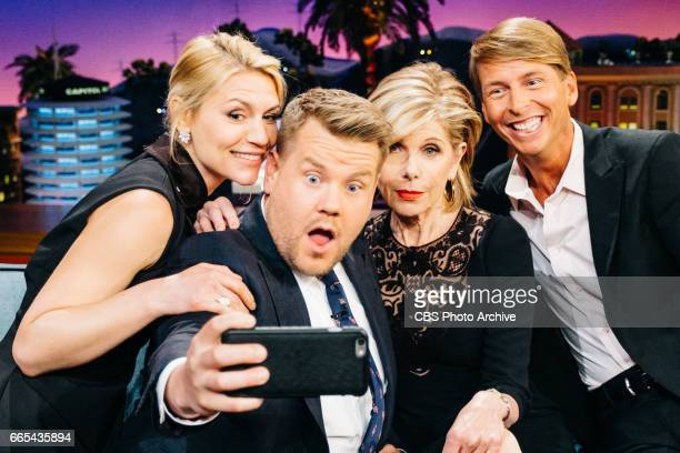 Claire Danes Christine Baranski and Jack McBrayer chat with James Corden during 'The Late Late Show with James Corden' Tuesday April 4 2017 On The...