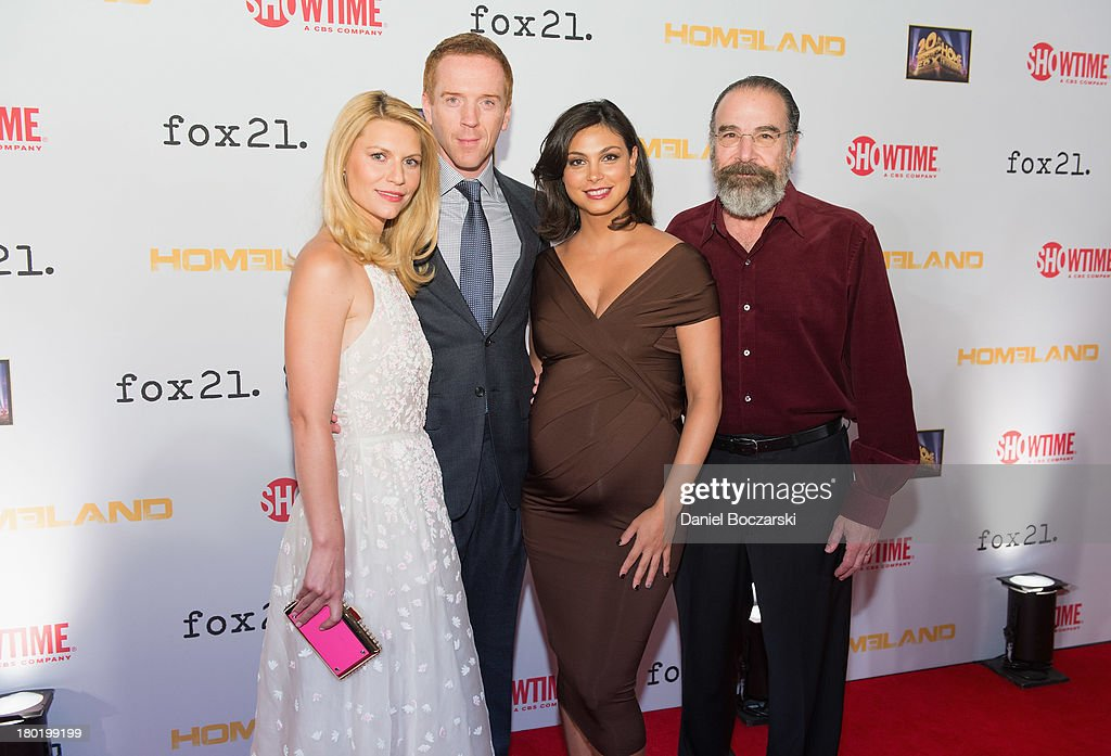 Claire Danes Damian Lewis Morena Baccarin and Mandy Patinkin attend a premiere screening hosted by SHOWTIME and Fox 21 for Season 3 of the hit series...