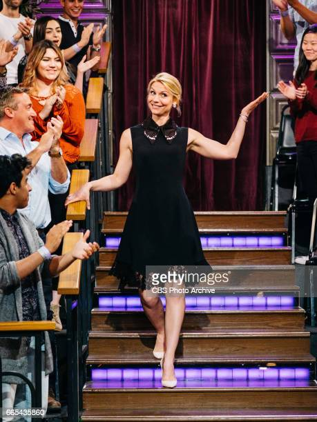 Claire Danes greets the audience during 'The Late Late Show with James Corden' Tuesday April 4 2017 On The CBS Television Network