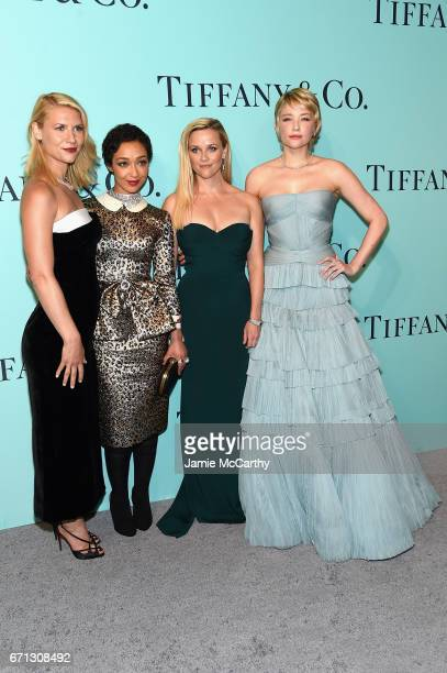 Claire Danes Ruth Negga Reese Witherspoon and Haley Bennett attend the Tiffany Co 2017 Blue Book Collection Gala at ST Ann's Warehouse on April 21...