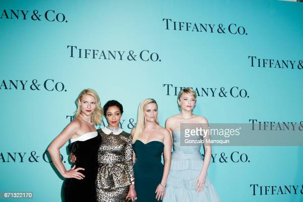 Claire Danes Ruth Negga Reese Witherspoon and Haley Bennett attend the Tiffany Co 2017 Blue Book Collection Gala Arrivals at St Annâs Warehouse on...