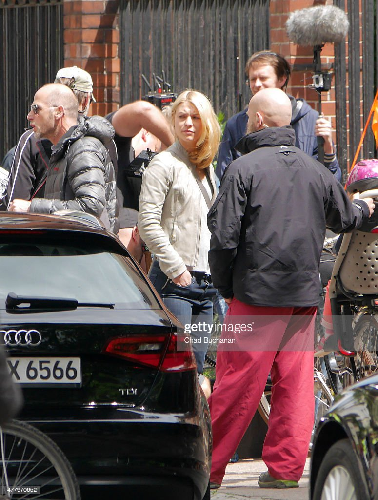 Claire Danes sighted filming on the set of Homeland on June 21 2015 in Berlin Germany