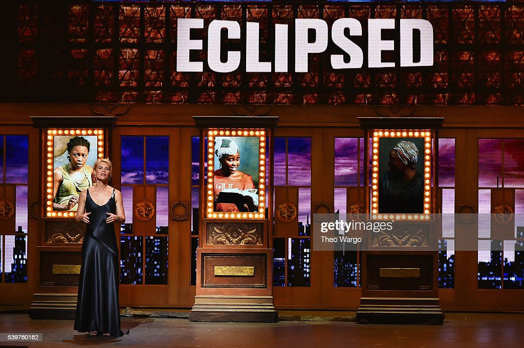 Claire Danes speaks onstage during the 70th Annual Tony Awards at The Beacon Theatre on June 12 2016 in New York City