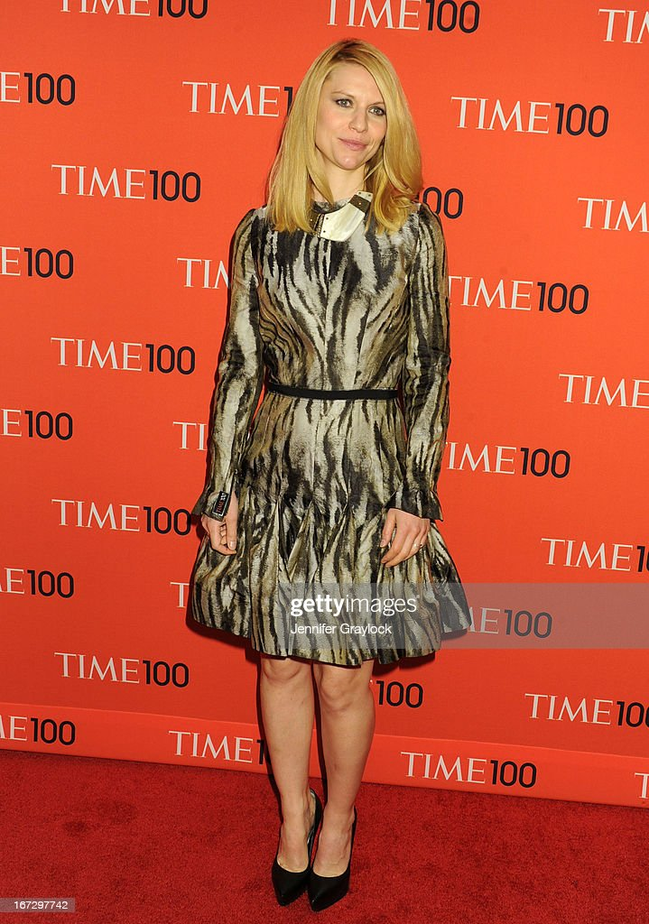 Claire Danes wearing Lanvin attends the 2013 Time 100 Gala at Frederick P. Rose Hall, Jazz at Lincoln Center on April 23, 2013 in New York City.