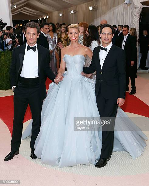 Claire Danes Zac Posen and Hugh Dancy attend the 2016 Costume Institute Gala at the Metropolitan Museum of Art on May 02 2016 in New York New York