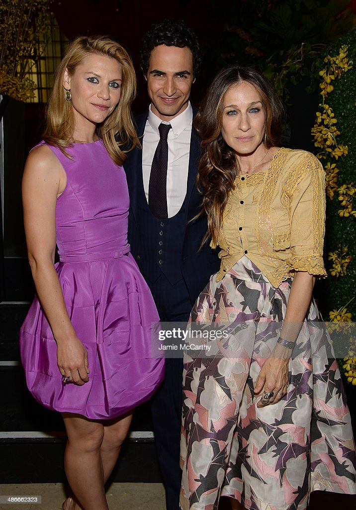 Claire Danes Zac Posen and Sarah Jessica Parker attend Variety Power Of Women New York presented by FYI at Cipriani 42nd Street on April 25 2014 in...