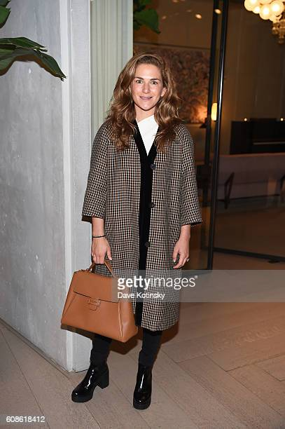 Claire Distenfeld attends the Daniel Arsham 'Colorblind Artist In Full Color' at Spring Place on September 19 2016 in New York City