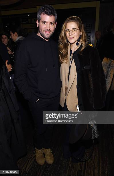 Claire Distenfeld owner of Fivestory attends the Brandon Maxwell A/W 2016 fashion show during New York Fashion Week at The Monkey Bar on February 16...