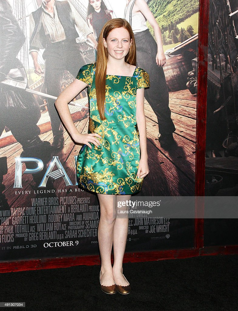 Claire Foley attends the 'Pan' New York Premiere - Outside Arrivals at Ziegfeld Theater on October 4, 2015 in New York City.