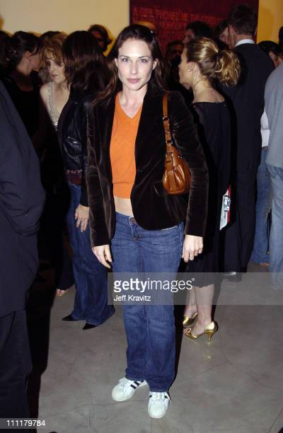 Claire Forlani during Richard Prince Check Paintings at Gagosian Gallery in Beverly Hills California United States