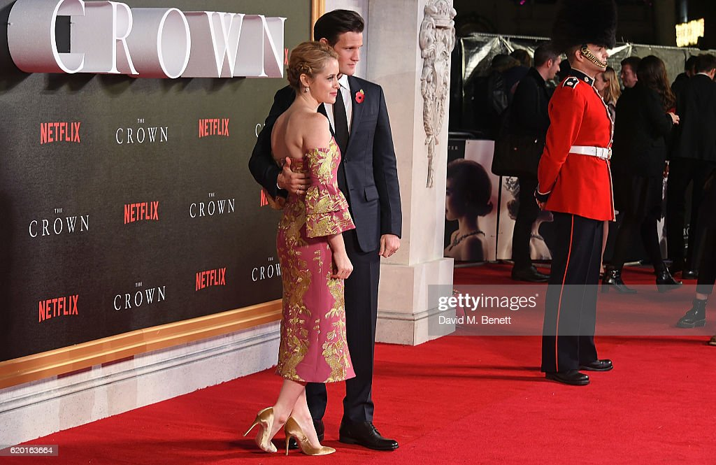 Claire Foy and Matt Smith attend the World Premiere of new Netflix Original series 'The Crown' at Odeon Leicester Square on November 1, 2016 in London, England.