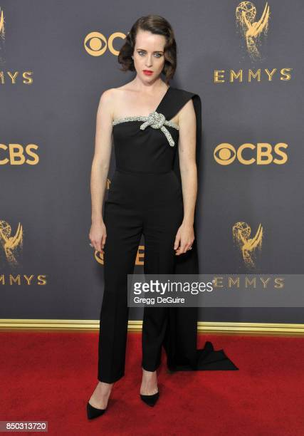 Claire Foy arrives at the 69th Annual Primetime Emmy Awards at Microsoft Theater on September 17 2017 in Los Angeles California