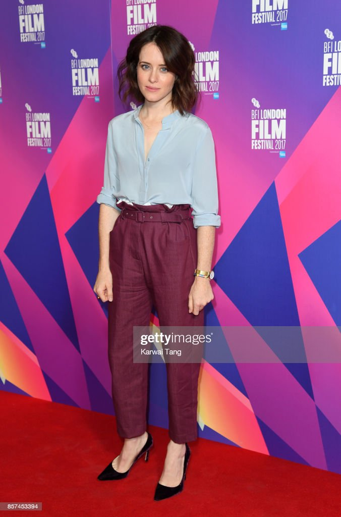 Claire Foy attends a photocall for 'Breathe' during the 61st BFI London Film Festival at the May Fair Hotel on October 4, 2017 in London, England.