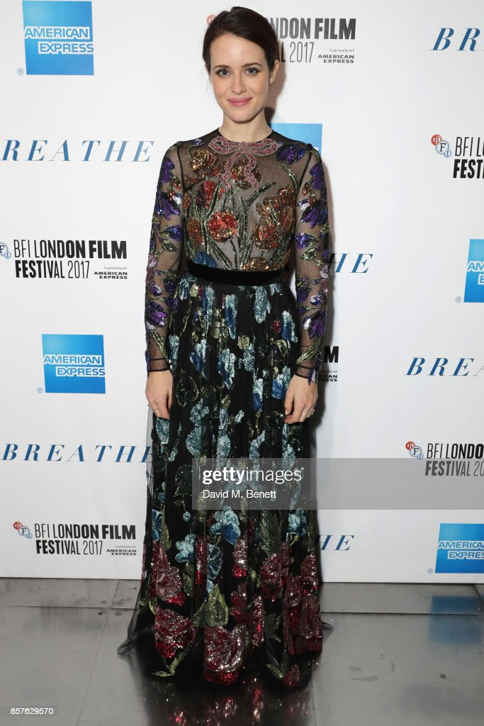 Claire Foy attends the 61st BFI London Film Festival Opening Night Gala Party at BFI Southbank on October 4, 2017 in London, England.