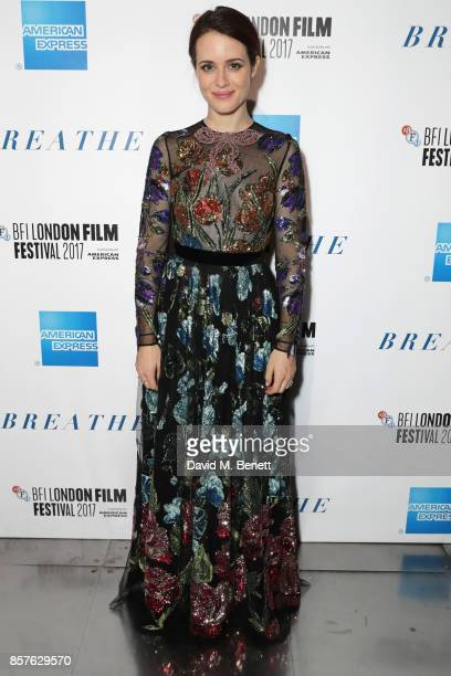 Claire Foy attends the 61st BFI London Film Festival Opening Night Gala Party at BFI Southbank on October 4 2017 in London England