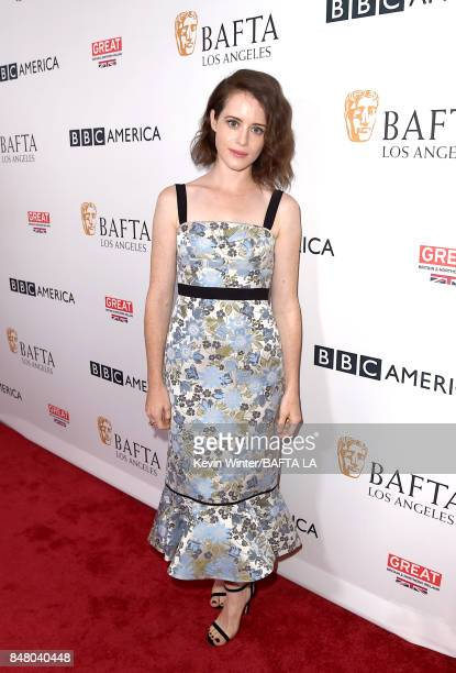 Claire Foy attends the BBC America BAFTA Los Angeles TV Tea Party 2017 at The Beverly Hilton Hotel on September 16 2017 in Beverly Hills California