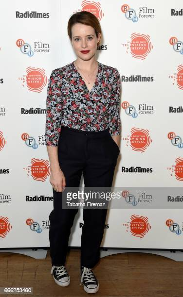 Claire Foy attends the BFI Radio Times TV Festival at the BFI Southbank on April 8 2017 in London England