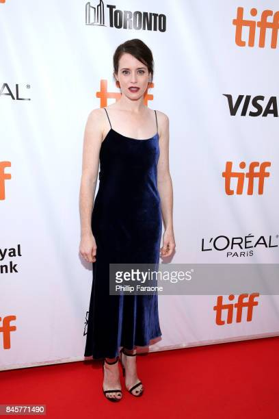 Claire Foy attends the 'Breathe' premiere during the 2017 Toronto International Film Festival at Roy Thomson Hall on September 11 2017 in Toronto...