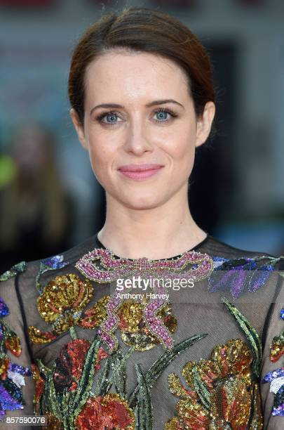 Claire Foy attends the European Premiere of 'Breathe' on the opening night gala of the 61st BFI London Film Festival on October 4 2017 in London...