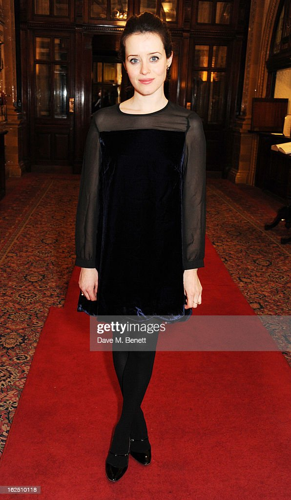<a gi-track='captionPersonalityLinkClicked' href=/galleries/search?phrase=Claire+Foy&family=editorial&specificpeople=5656059 ng-click='$event.stopPropagation()'>Claire Foy</a> attends the 'Macbeth' after party at One Whitehall Place on February 22, 2013 in London, England.
