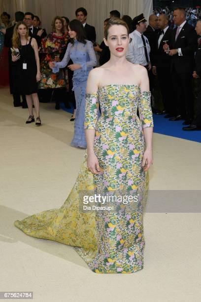 Claire Foy attends the 'Rei Kawakubo/Comme des Garcons Art Of The InBetween' Costume Institute Gala at Metropolitan Museum of Art on May 1 2017 in...