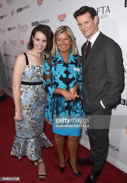 Claire Foy BAFTA's Chantal Rickards and Matt Smith attend the BBC America BAFTA Los Angeles TV Tea Party 2017 at The Beverly Hilton Hotel on...