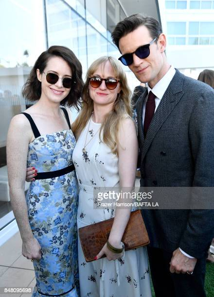 Claire Foy Lucy Chambers and Matt Smith attend the BBC America BAFTA Los Angeles TV Tea Party 2017 at The Beverly Hilton Hotel on September 16 2017...
