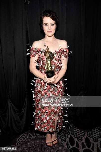 Claire Foy recipient of the Britannia Award for British Artist of the Year presented by Burberry at the 2017 AMD British Academy Britannia Awards...