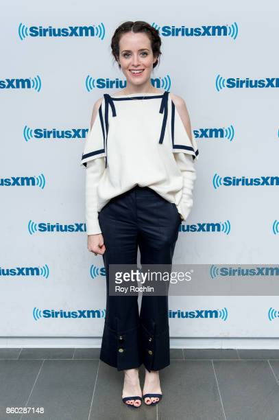 Claire Foy visits SiriusXM Studios on October 11 2017 in New York City