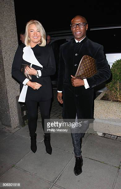 Claire Geary and Chris Eubank attends the Late Late Show on January 22 2016 in Dublin Ireland