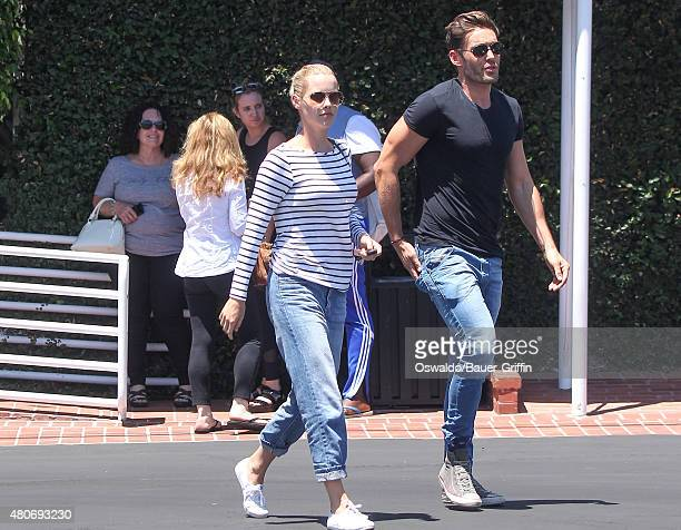 Claire Holt and Matt Kaplan are seen on July 14 2015 in Los Angeles California