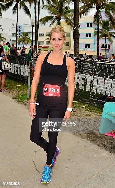 Claire Holt Takes Part In Life Time South Beach Triathlon at Lummus Park on April 3 2016 in Miami Beach Florida