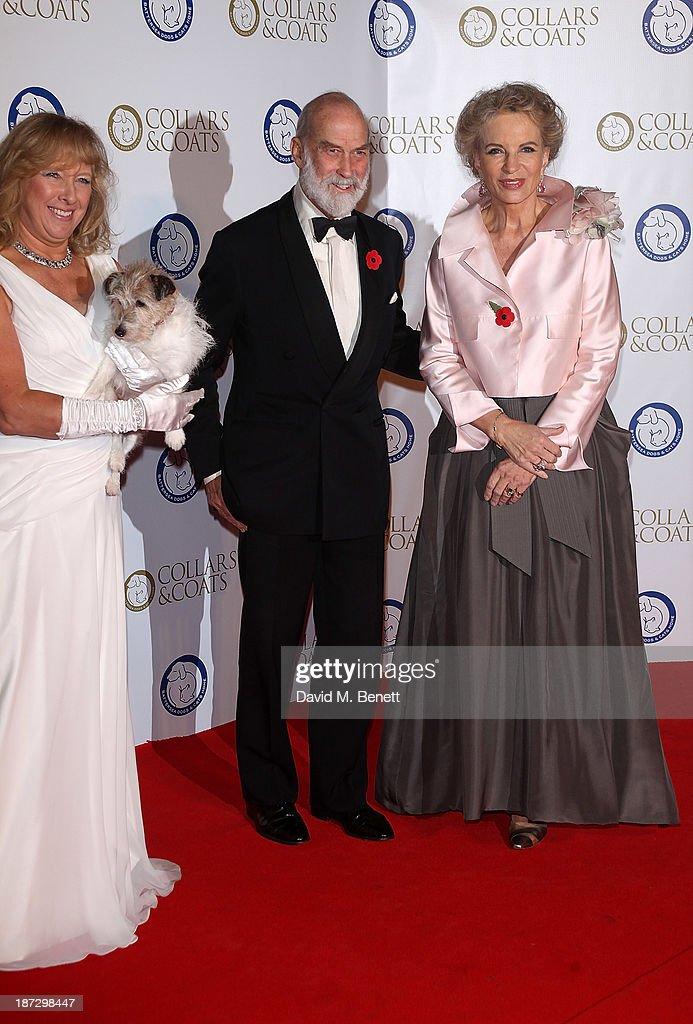 Claire Horton, Prince Michael of Kent and Princess Michael of Kent attend the annual Collars and Coats gala ball in aid of Battersea Dogs & Cats home at Battersea Evolution on November 7, 2013 in London, England.