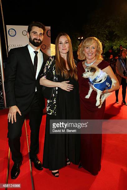 Claire Horton Rosi Marcel and Ben Stacy attend Battersea Dogs Cats Home's 'Collars Coats Gala Ball' at Battersea Evolution on October 30 2014 in...