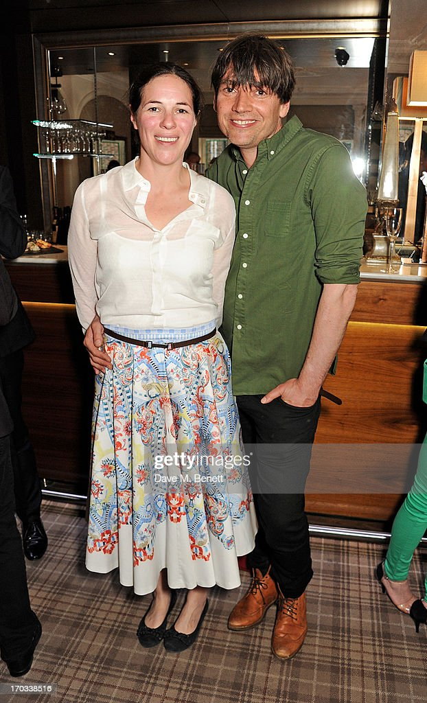 Claire James (L) and Alex James attend a private dinner previewing the new 'Alex James Presents' Blue Monday cheese at The Cadogan Hotel on June 11, 2013 in London, England.