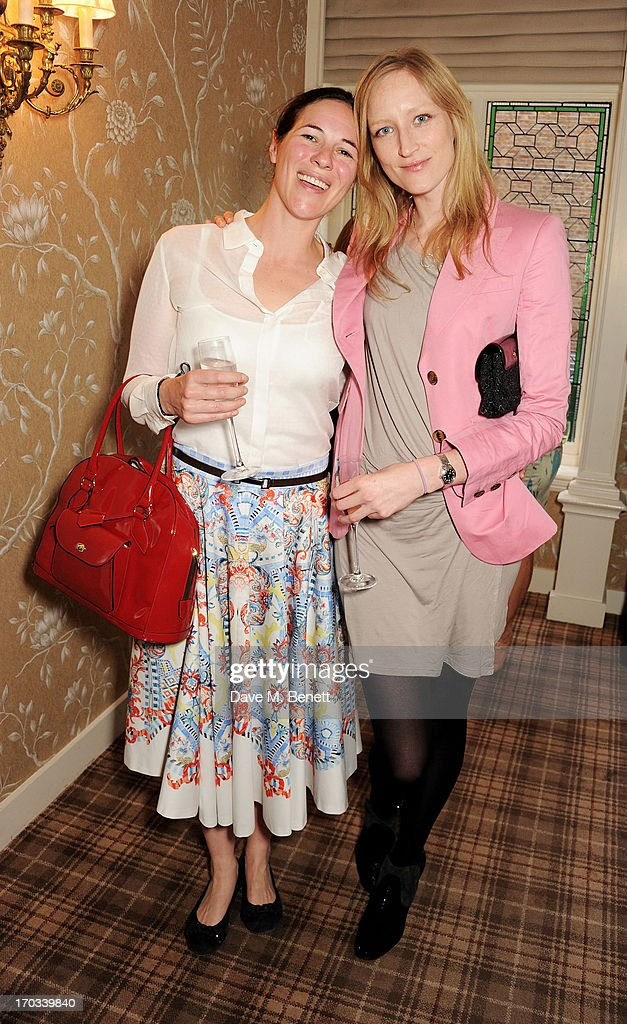 Claire James (L) and Jade Parfitt attend a private dinner previewing the new 'Alex James Presents' Blue Monday cheese at The Cadogan Hotel on June 11, 2013 in London, England.