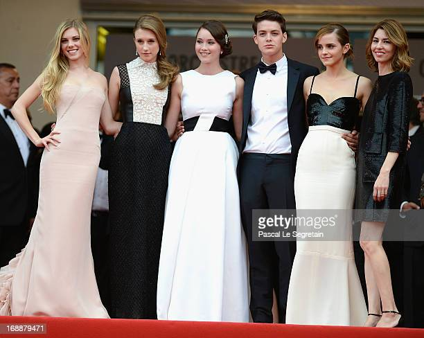Claire Julien Taissa Fariga Katie Chang Israel Broussard Emma Watson and Sophia Coppola attend 'The Bling Ring' premiere during The 66th Annual...