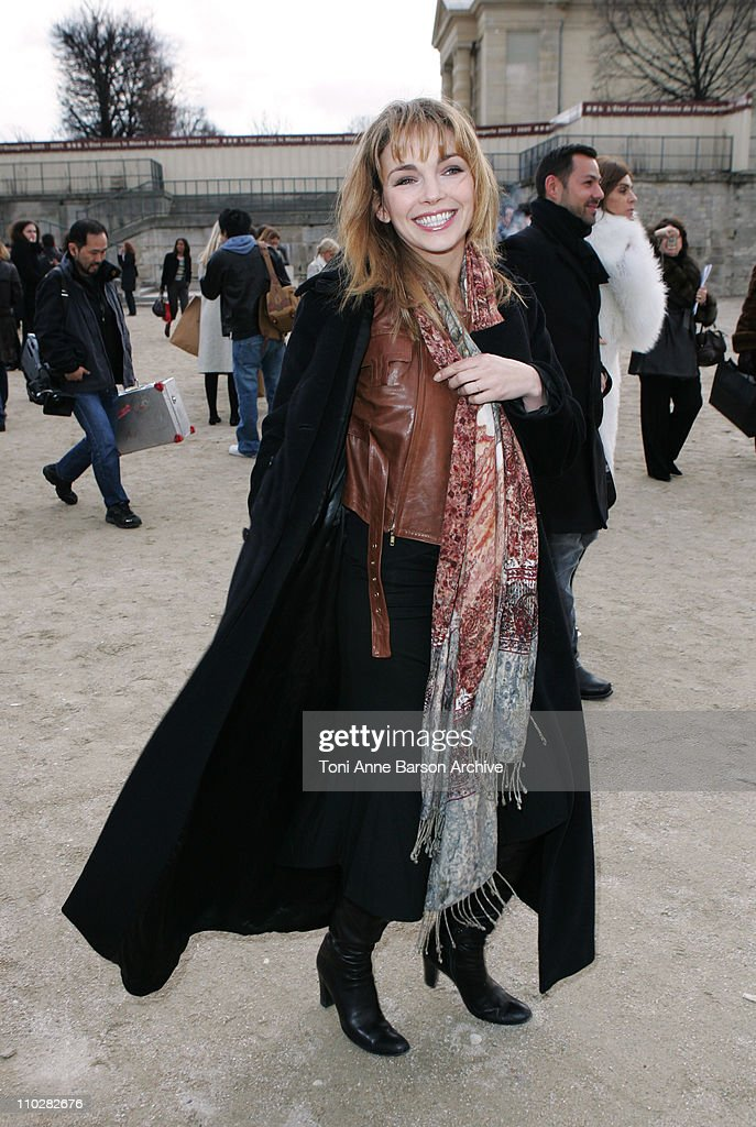 <a gi-track='captionPersonalityLinkClicked' href=/galleries/search?phrase=Claire+Keim&family=editorial&specificpeople=867122 ng-click='$event.stopPropagation()'>Claire Keim</a> during Paris Fashion Week - Autumn/Winter 2006 - Ready to Wear - Celine - Departures at Jardins Ephemeres in Paris, France.