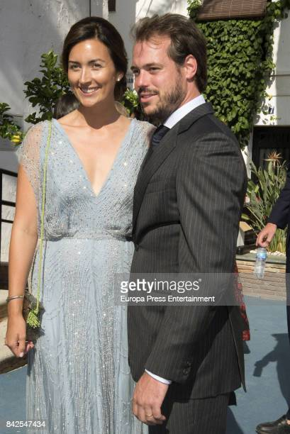 Claire Lademacher and Felix of Luxemburgo are seen attending the wedding of MarieGabrielle of Nassau and Antonius Willms on September 2 2017 in...