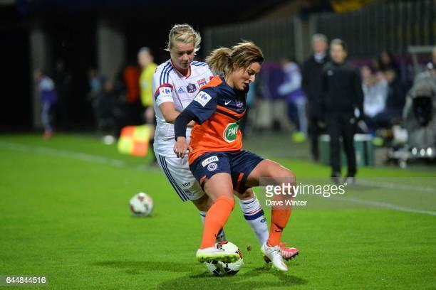 Claire LAVOGEZ / Ada HEGERBERG Montpellier / Lyon Finale Coupe de France Calais Photo Dave Winter / Icon Sport