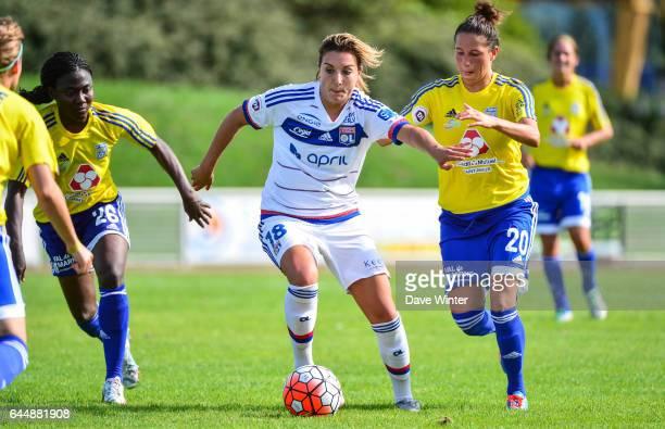 Claire LAVOGEZ / Francine ZOUGA / Lilia BOUMRAR VGA Saint Maur / Lyon 1eme journee de 1er Division feminine Photo Dave Winter / Icon Sport