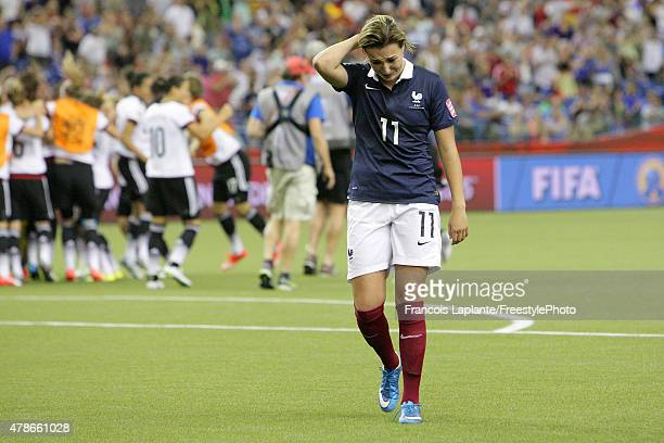 Claire Lavogez looks down after giving away the win to team Germany during the FIFA Women's World Cup Canada 2015 quarter final match between Germany...