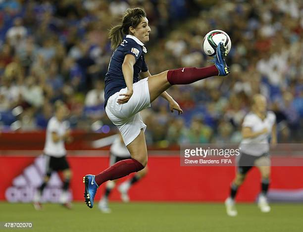 Claire Lavogez of France controls the ball during the FIFA Women's World Cup 2015 quarter final match between Germany and France at Olympic Stadium...