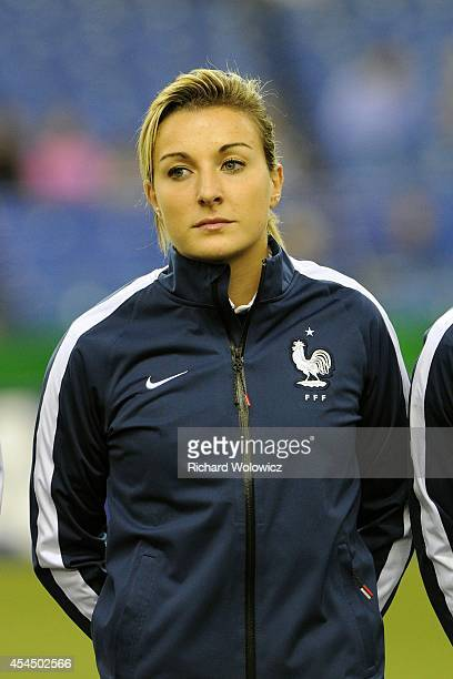 Claire Lavogez of France during the FIFA Women's U20 Semi Final game against Germany at Olympic Stadium on August 20 2014 in Montreal Quebec Canada...