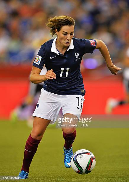 Claire Lavogez of France in action during the quarter final match of the FIFA Women's World Cup between Germany and France at Olympic Stadium on June...